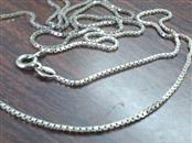"24"" Silver Box Chain 925 Silver 4.7g"